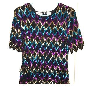 Tops - Colorful Sequence Top